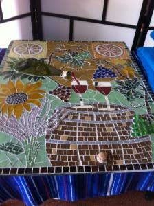 Mozaiek schilderij Provence